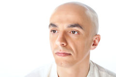 Portrait of bald male royalty free stock photos
