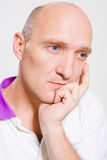 Portrait of the bald man Stock Photography