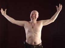 Portrait of a bald man Royalty Free Stock Photos