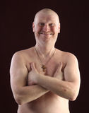 Portrait of a bald man Royalty Free Stock Image
