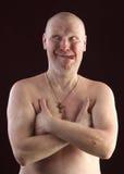 Portrait of a bald man Stock Photos