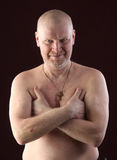 Portrait of a bald man Royalty Free Stock Images