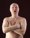 Portrait of a bald man Royalty Free Stock Photography
