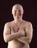 Portrait of a bald man Stock Image
