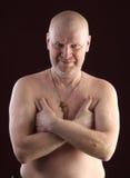 Portrait of a bald man Stock Photo
