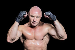 Portrait of bald man in gloves Royalty Free Stock Photography