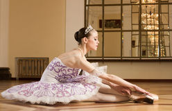 Portrait of the ballerina Royalty Free Stock Photos