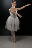Portrait Of The Ballerina In Ballet Pose Stock Images