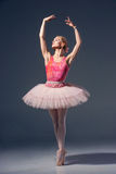 Portrait of the ballerina in ballet pose Stock Photography
