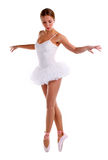 Portrait of ballerina dancing on pointes Stock Image