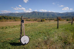 Portrait of a banjo on the Smoky Mountains National Park Royalty Free Stock Images