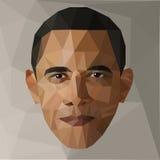 Portrait Barack Obama U.S. president low poly USA Royalty Free Stock Photography