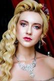 Portrait of baroque fashion woman Stock Images