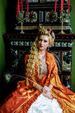 Portrait of baroque fashion woman Royalty Free Stock Photography