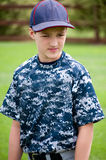 Portrait of baseball player in camo jersey Royalty Free Stock Photo