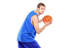 Portrait of a basketball player posing Stock Photo