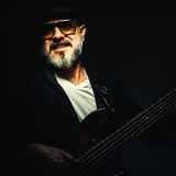 Portrait of a Bass Player Royalty Free Stock Photography