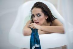 Portrait in bath Stock Images