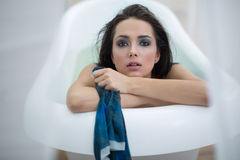 Portrait in bath Stock Photography