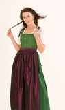 Portrait of a Bavarian girl Royalty Free Stock Photo