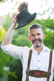 Portrait of bavarian man Royalty Free Stock Photography
