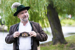 Portrait of a bavarian man Stock Photo