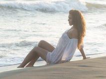 Portrait on beach Stock Photos