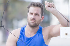 Portrait  of a beach volley player Royalty Free Stock Photography