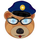 Portrait bear police Royalty Free Stock Photography