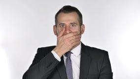 Portrait of Beard Businessman Gesturing Shock, Astonished stock footage