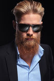 Portrait of a bearded business man Stock Photography