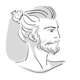 Portrait of a bearded man hipster Stock Images