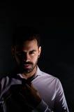 Portrait of a bearded man Stock Photos