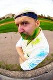 Portrait of bearded man during holi festival Royalty Free Stock Photos