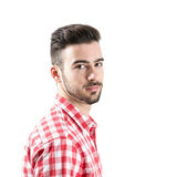 Portrait of bearded man looking at camera Stock Image