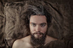 Portrait of a bearded man Stock Image