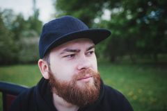 Portrait of a bearded man royalty free stock photo
