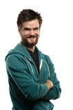 Portrait of Bearded Man Smiling Stock Photography