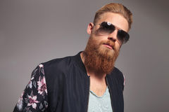 Portrait of a bearded young man Royalty Free Stock Photo