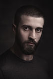 Portrait of a beardy man Stock Photo