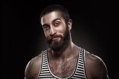 Portrait of a beardy man Stock Photography