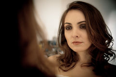 Portrait of beatiful woman with make-up Stock Images