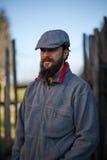 Portrait beau de jeune exploitant agricole Images stock