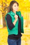 Portrait of beautifiul young brunette girl in Stock Photos