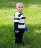 Portrait of beautiful adorable boy Stock Images