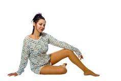 Beautiful adult brunette woman Stock Photography