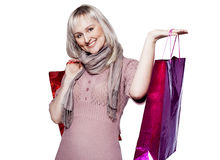 Woman makes shopping Stock Photo