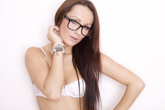 Portrait of a beautiful adult sensuality woman Royalty Free Stock Photo