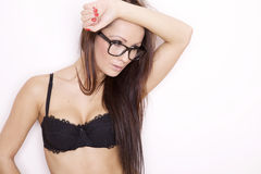 Portrait of a beautiful adult sensuality woman Royalty Free Stock Photography