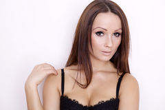 Portrait of a beautiful adult sensuality woman Stock Photos